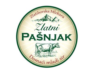 Zlatni Pasnjak cheese label bio nature cheese illustration product label design artdirection artwork