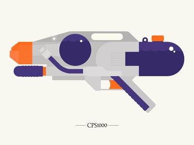 CPS1000 supersoaker illustration vector
