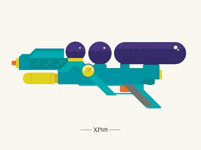 The XP105 vector illustration colourful super soaker