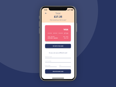 Daily UI #002 – Credit Card Checkout interface ux dailyui002 dailyui daily ui 002 daily ui colorful color design colour ui