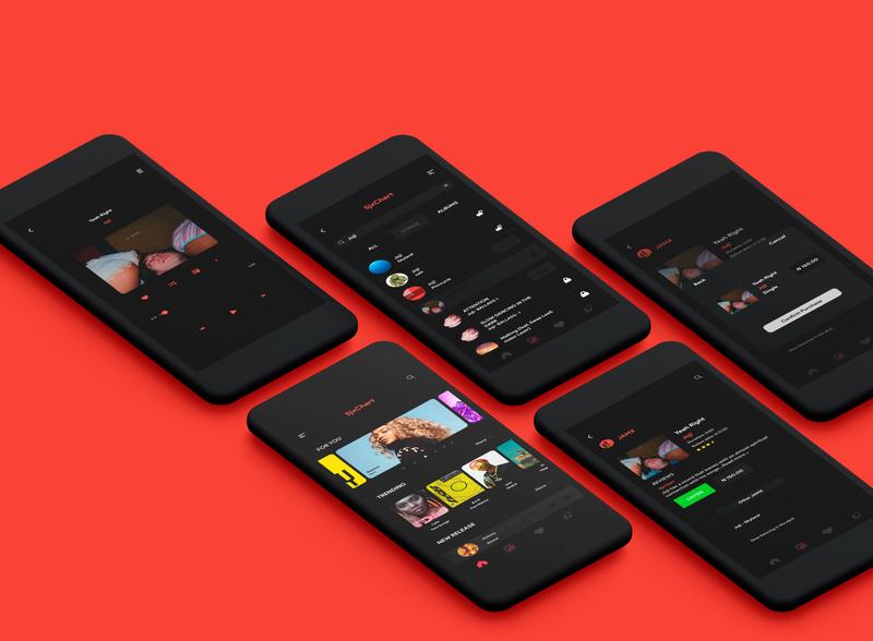 mobile music application ui ux design ui
