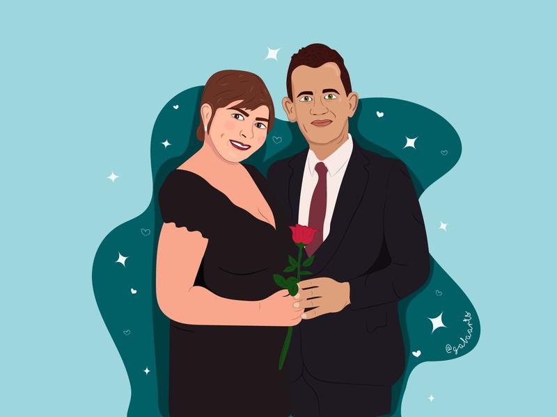 Paolina y Nicola comic avatar icons icon illustration