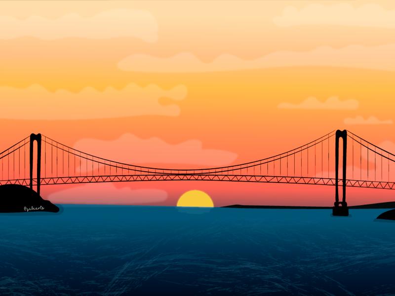 Puente Angostura, Venezuela colors vector design comic avatar icons illustration icon