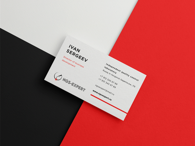 Business card for NGS-Expert name minimalism business cards card business