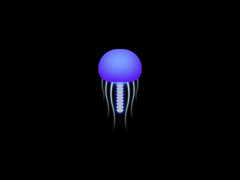 Jelly jellyfish jelly fish glow blur 3d design vector minimal illustration gradient affinity designer