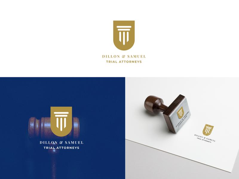 Dillon &  Sammuel Trial Attorneys court sheild logotype logo business law lawyer