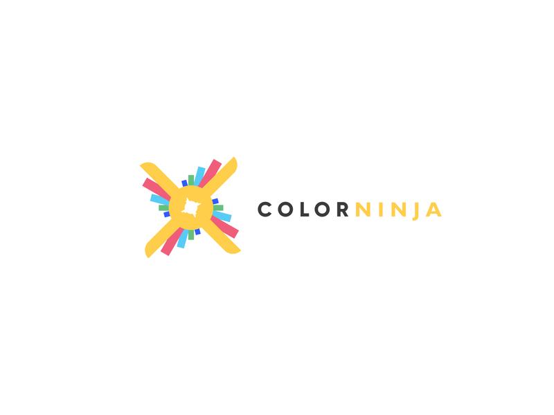 Color Ninja graphics color modern illustration design graphicdesign simple logo minimalistic minimal logodesign business logotype logo