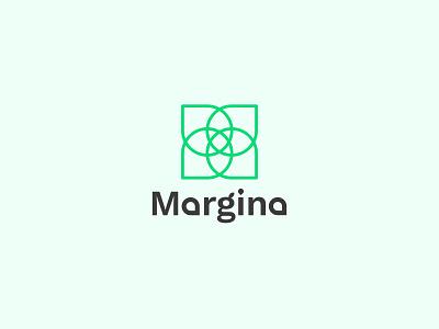 Margina | A flower shop logo graphic design concept icon shop flower illustration design branding minimalistic simple logo minimal logo logotype graphicdesign