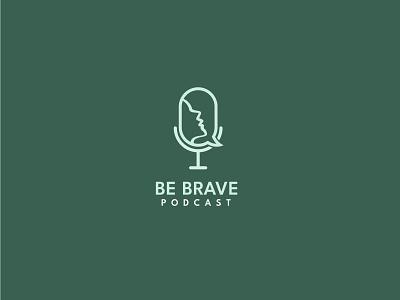 Podcast Logo modern minimal drawing art logotype feminine customlogo logomaker logoideas tesignlab12 tesignlab creativelogo logoconcept linelogo gridsystem lettermark logo podcast female brave