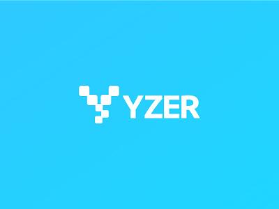Tech Company- Identity minimal monogram symbol identity typography vector abstract logo y mark startup logo techno techcompany branding simple logo graphic design y letter y logo network tech technology logo