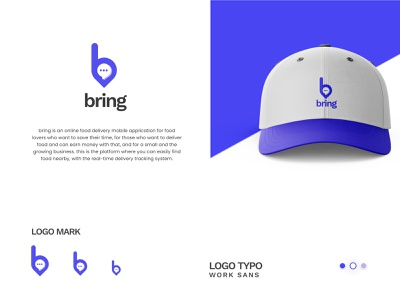 Delivery Service Company Logo gradient order food order bring food delivery agency fooddelivery time goods food cap icon app b letter b mark delivery logotype branding simple logo minimal logo
