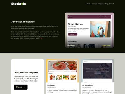 Stackrole Website jamstack website ui ux design branding