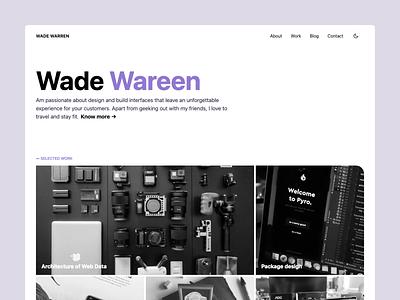 Wade Jamstack website template portfolio website design jamstack design website ux ui
