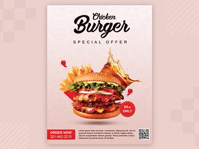 Burger Flyer Design socialmediapost socialmedia flyer aroonanim brand brochuredesign dribblenepal dribbleshot graphicsdesign flyerdesign