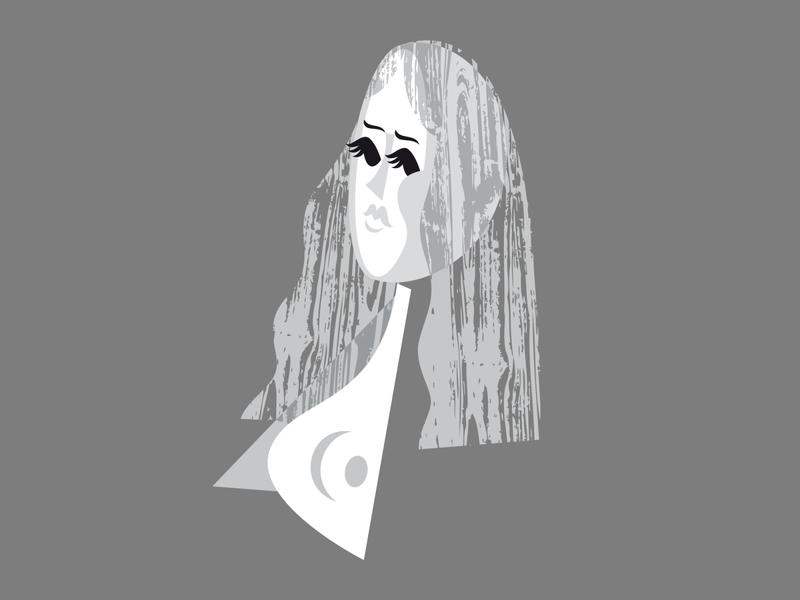 Nude eyes graphic design wood nude blackandwhite retro kobiri illustration ashi