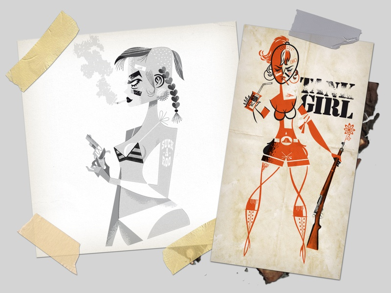Tank Girl peace japan australia magazine illustration fan art poster characterdesign tankgirl graphic novel retro kobiri illustration ashi
