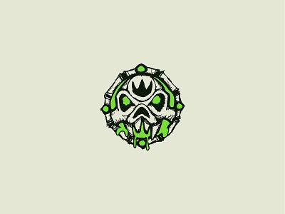 Defilers of Arathor - Logo Icon logo design branding illustration guild world of warcraft skull icon logo