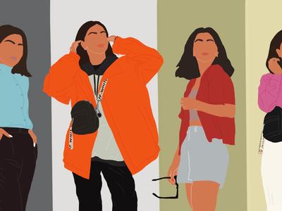 Minimal Art collage digital outfit minimalistic illustration