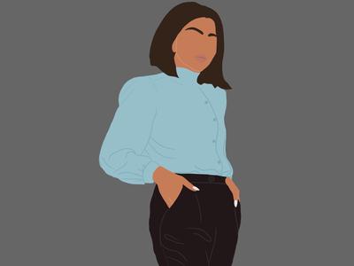Digital illustration flat minimalistic digital illustration