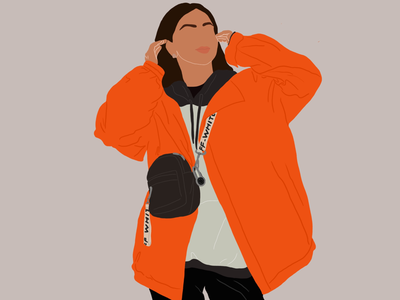 Minimalistic illustration digital outfit illustration graphic design