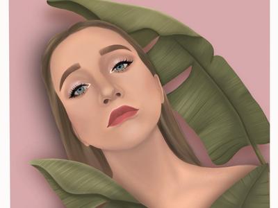 Portrait procreate portrait illustration digital art