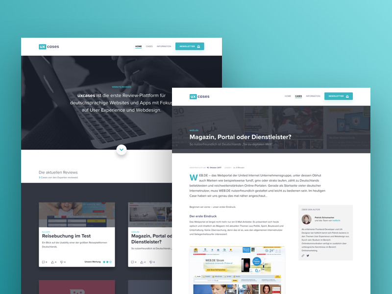 uxcases modern clean website flat webdesign ui ux user experience usability