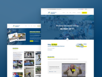Speedskating Kriterium whitespace website webdesign design clean
