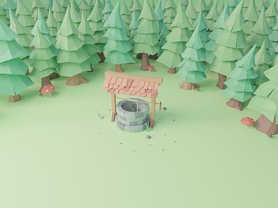 Low poly Forest blender3dart forest lowpoly blender3d 3d art 3d illustration