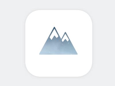 005 - App icon mountain trekking app icon mobile 005 dailyui