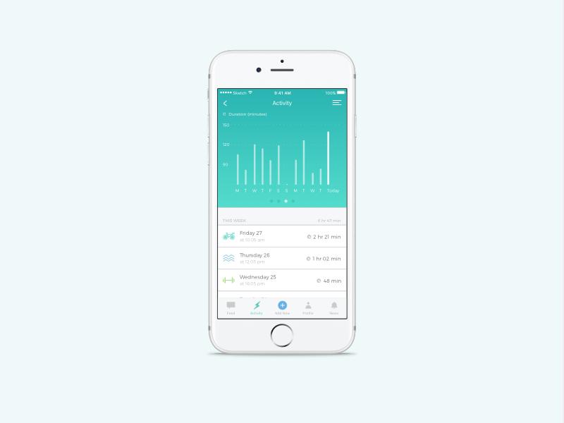 Sports tracker icon daily ui app tracker