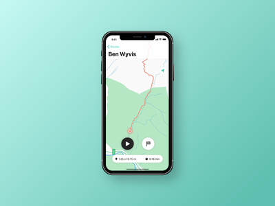 Hiking tracker map tracker location highlands ios routes hiking location tracker iphone x dailyui