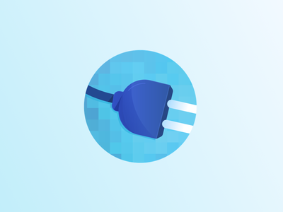 Icon power electricity illustration icon
