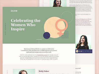 Women's Month textures abstract illustration women empowerment women day responsive dailyui website ui