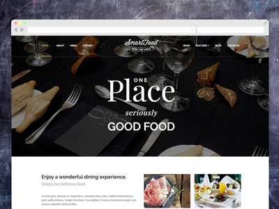 Restaurant WordPress Theme  wordpress debut restaurant website bistro cafe bar