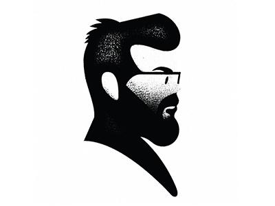 Mike mike mcquade portrait vector illustration geometric