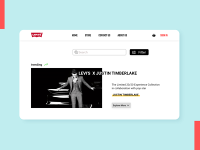 Levi's Homepage Redesign homepage ui redesign e-commerce levis