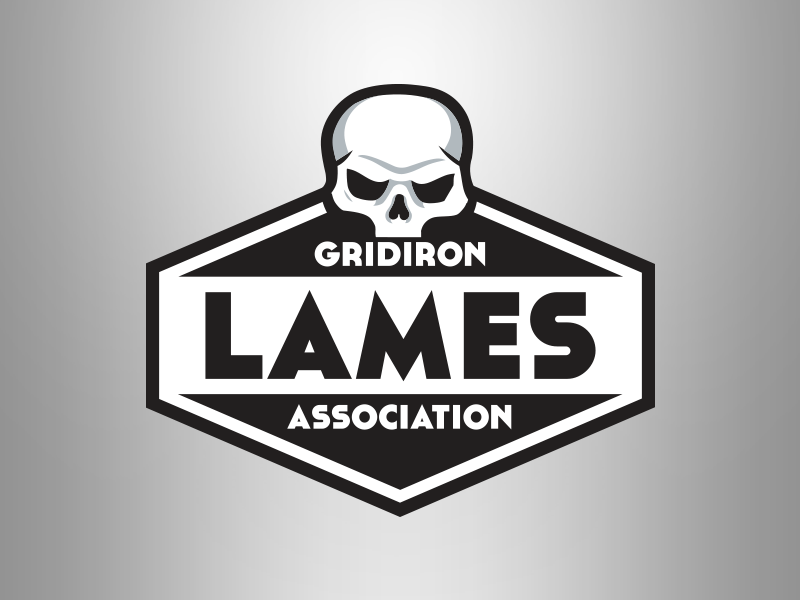 Gridiron Lames Association fun illustration football logo fantasy football