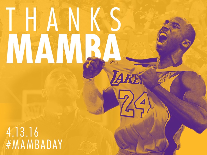 Thanks Mamba mvp retirement duotone gold purple nba lakers 8 24 kobe mambaday kobe bryant
