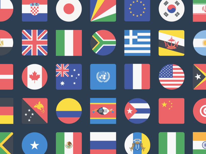 Inktrap / Projects / Flags by Inktrap | Dribbble