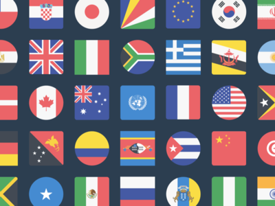 The Flags of the World Icon Set icons flags illustrator illustration png vector