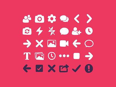 Warptalk Icon Set iconset interface ui illustrator graphics icons