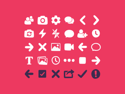Warptalk Icon Set iconset interface ui illustrator graphics icons