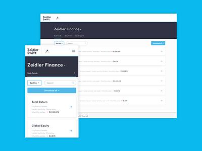 Zeidler Swift interface digital product blue white app web ui interface digital design clean flat