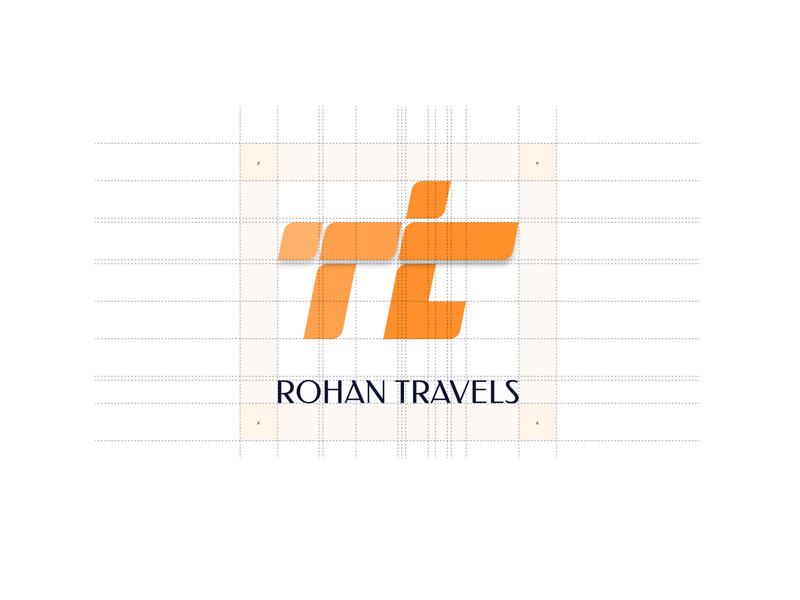 Rohan Travels Logo Design designed for india indian design travels logodesign identitydesign branding logo
