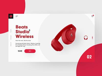 Headphone UI beats studio headphones e-commerce color ui
