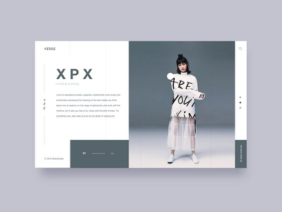 Style uitrends fashio slider design web clean ux ui
