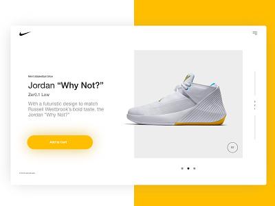 Nike Jordan Why Not? minimal shoes design ux ui nike