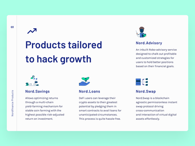 Nord Finance 3 ui creative advert infographic crypto minimalist