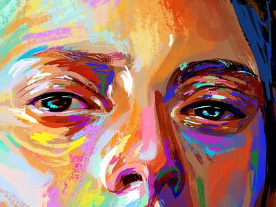 Talia primary colors inspirational inspiration eye catching eyeshadow eyesight eyeballs eyeball eyes eye style design illustration portrait abstract art popart colorful art