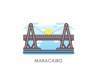 Venezuelan Cities: Maracaibo city logo cityscape city illustration design bridge bridge logo city icon icon illustration icon city illustration illustration venezuelan venezuela maracaibo